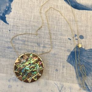 House of Harlow Large Abalone Starburst necklace